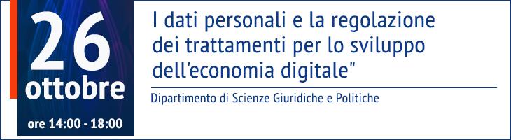I dati personali e la regolazione dei trattamenti per lo sviluppo dell'economia digitale