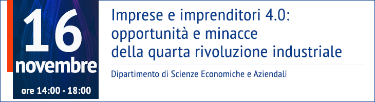 Imprese e imprenditori 4.0: opportunità e minacce della quarta rivoluzione industriale